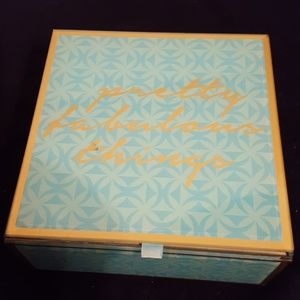 Turquoise colored jewelry box